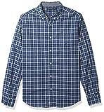 Nautica Men's Long Sleeve Classic Fit Plaid Button-Up Shirt, Limoges, Medium