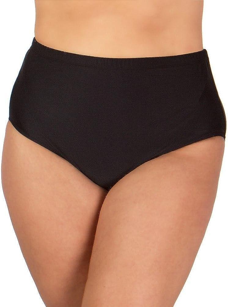 Christina Women's Plus Size Solid High Waisted Bikini Bottom
