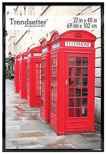 MCS 27 x 40 Inch Trendsetter Poster, Black Back-Loading Wall Art & Puzzle Frame, 18 x 24