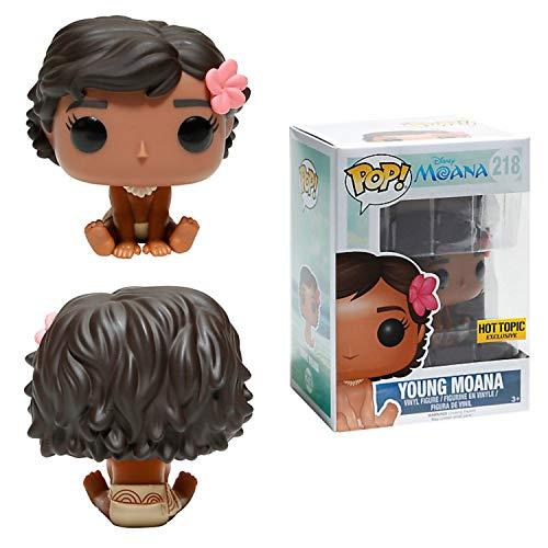 Funko–Figura Disney Vaiana/Moana–Young Moana, muñeca Moana sentada, Pop 10cm, ref....