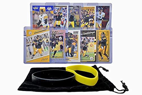 Ben Roethlisberger Football Cards Assorted (10) Bundle - Pittsburgh Steelers Trading Card
