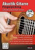 CASCHA Akustik-Gitarre Fingerpicking - Schnell und einfach lernen + DVD - Cascha