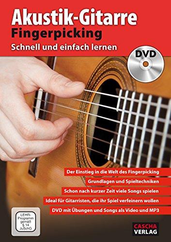 CASCHA Akustik-Gitarre Fingerpicking - Schnell und einfach lernen + DVD