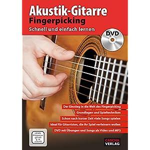 CASCHA Akustik-Gitarre Fingerpicking – Schnell und einfach lernen + DVD