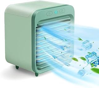 Galapar Mini Aire Acondicionado Móvil, 3 Velocidad de Viento Ajustable Silencioso y Recargable Escritorio Acondicionador de Aire y humidificador Mini Ventilador para Dormitorio de Oficina en el hogar