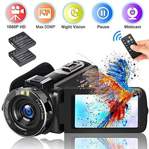 Video Camera Camcorder DIWUER 20...