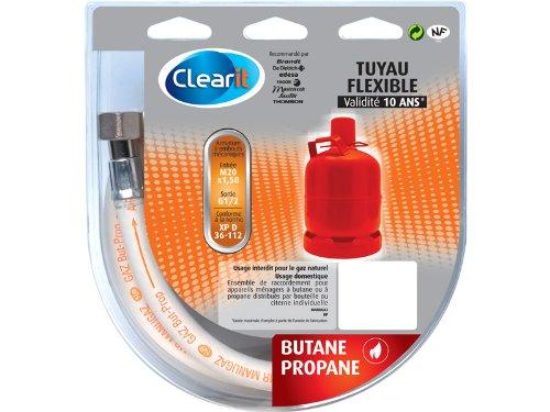 Clearit 71X1799 Tuyau Gaz Butane 1,0 m NFD 36-112