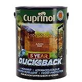 Cuprinol 5 Year Ducksback 5 L Autumn Gold - Tintes para maderas de exterior (En vallas y cercados, Shed, 5 L, 5 m²/L, Autumn Gold, Al agua, Translúcido)