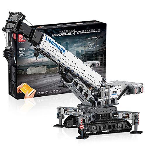 WANCHENG Technik Liebherr Kran Bausteine Bausatz, Mould King 17002, 4000 Teile Bausteine Kran LTR 11200 Modell Bauset mit 12 Motors, Kompatibel mit Lego