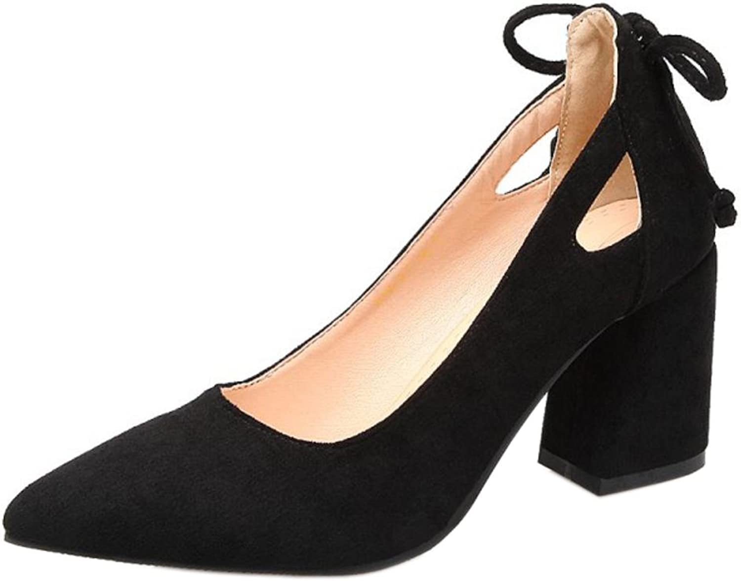 TAOFFEN Women's Stylish Pointed Toe Court shoes