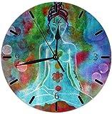 Alive Inc Chakra Meditazione Pittura Incantesimi Decorazioni per la Famiglia Orologio Camera da Letto Soggiorno Decorazioni per la casa Arte FramelNon Ticchett