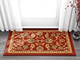 Well Woven Kings Court Tabriz Traditional Red Oriental 2' x 3' Mat Accent Indoor/Outdoor Rug