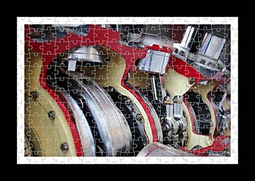 Stile Puzzle, Pre-assemblato da parete con stampa del motore di Lisa Loft