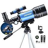 Telescopio para Niños 70mm Telescopio Astronómico con Trípode Adaptador Teléfono Ffiltro Lunar para Principiantes Observa la Luna