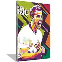 フットボール選手ハリーケインHDキャンバス絵画アートポスターホームウォールデコレーションペインティングフットボールファンベッドルームリビングルームスタジオデコレーションポスター60x90cm(24x36inch)内枠