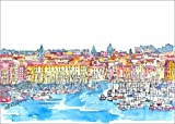 Poster 30 x 21 cm: Palermo Sicily Italy Waterfront Skyline