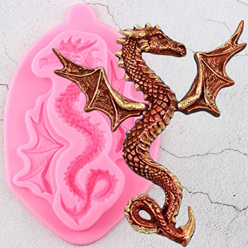 SKJH 3D Dragon Silicone Mold Baby Birthday Cake Decorating Tools Cake Baking Molds Candy Clay Chocolate Moulds