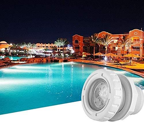 Foco de decoración de Estanque subacuático/Iluminación de Pared Seguro AC 12V Impermeable Luz Nocturna Que Cambia Luz de inundación LED empotrada al Aire Libre para Paisaje Jardín Césped Piscina B