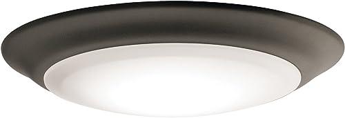 """2021 Kichler 43848OZLED30T 7.5"""" 3000K PC new arrival outlet sale Lens Flush Mount in Olde Bronze outlet online sale"""