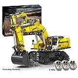 ZCXX Technik RC ruspa radiocomandata 2.4 Ghz modello scavatore bruco modello con motori compatibili con Lego Technic