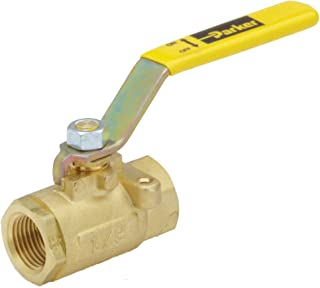Parker VV502P-12 Industrial Brass Ball Valve, Female to Female, Brass, Female Pipe Panel Mount, 3/4