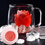 KOLIU Ice Cube Form Silicona Rose Shape Icecream Mold 3D Big Freezer Ice Cream Ball Maker Reutilizable Whisky Cocktail Mold Bar Tools-L