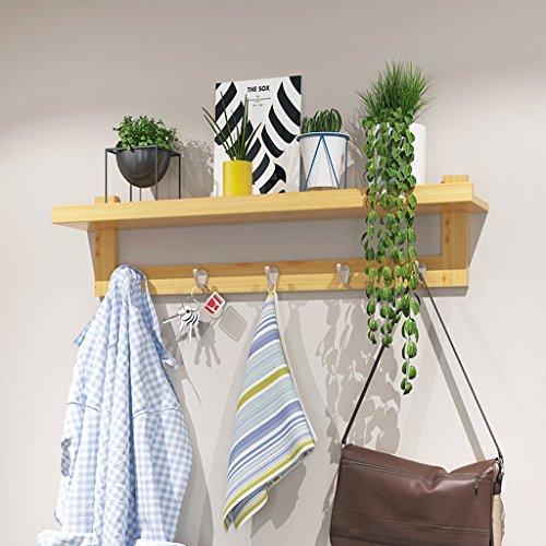 LITINGMEI Shelf Wandregal hängend Kleiderbügelhülle Haube Haken Tür Aufbewahrungswand Lagerturm Holz Farbe (größe : 74cm(5 Hook))