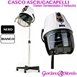 CASCO ASCIUGACAPELLI PROFESSIONALE CAPELLI RAP HAIR MADE ITALY BIANCO O NERO PER PARRUCCHIRE (BIANCO)