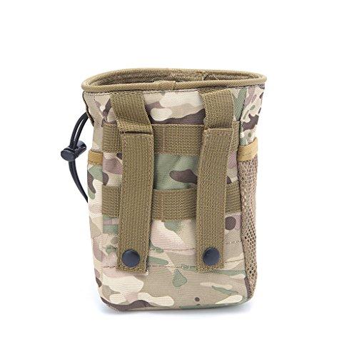 Exing Outdoor Utility Pouch Tasche Airsoft Militär Molle Gürtel Taktische Dump Drop Tasche (CP)