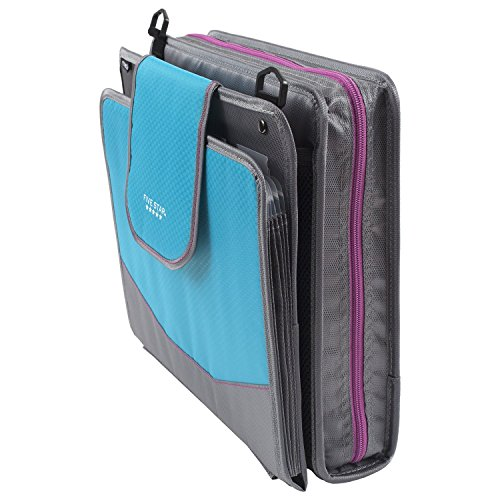 Five Star Sewn Zipper Binder, 2 Inch 3 Ring Binder With 4 Inch Capacity, Assorted Colors, Color Selected For You, 1 Count (28044) Photo #37