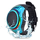 Frewico X10 IP45 Waterproof Portable Bluetooth Speaker Watch TWS Voice Control with LED Flashing Light + MP3 Music Player + Microphone + SD Card Slot+Selfie for Sports,Outdoor Travel and Home(Blue)