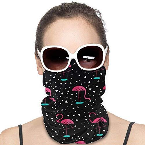 XCNGG Flamingo patrón cubierta bandanas para mujeres hombres cuello polaina media multifuncional headwear para polvo al aire libre deportes bufanda negro