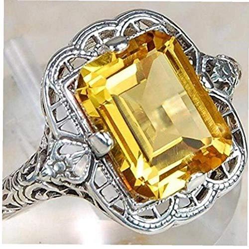 LAVALINK Frauen-Hochzeit Brautschmuck Elegante Lemon Ring (9)