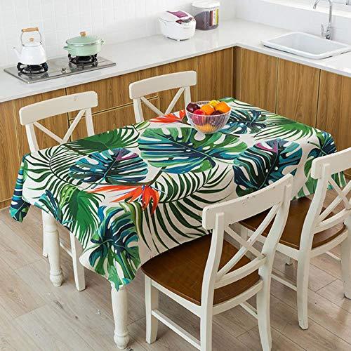 CICI Tischdecke Tropical Bananenblatt wasserdicht Tischdecke mesa manteles Tischabdeckung,11,140x280cm
