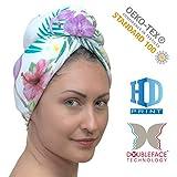 YOSSEE Haarturban, Turban Handutch Haare Schnell Trocken Microfaser/Baumwolle Haartrockentuch Kopftuch Schnelltrocknend, Saugfähig und Leicht, Design für Frauen und Kinder, Hergestellt in der EU