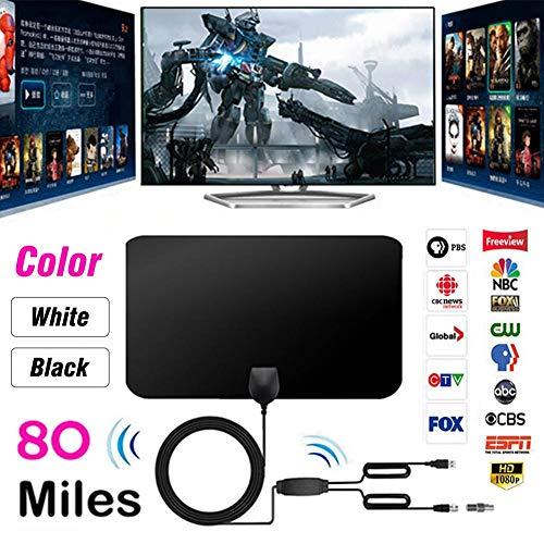AITOCO 0,7-mm-hauchdünne HDTV-Antenne mit hervorragender Leistung für Digitale DVB-T- und analoge TV-Signale, VHF/UHF/FM, Fensterantenne, weiches Design