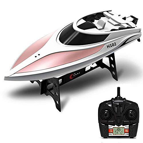 KRCT 2.4GHz 4CH RC Professionale Motoscafo Double Layer Yacht Modello Ricaricabile ad Alta velocità Elettrico motoscafo Giocattolo 150M Remote Barca di Controllo for Bambini e Adulti