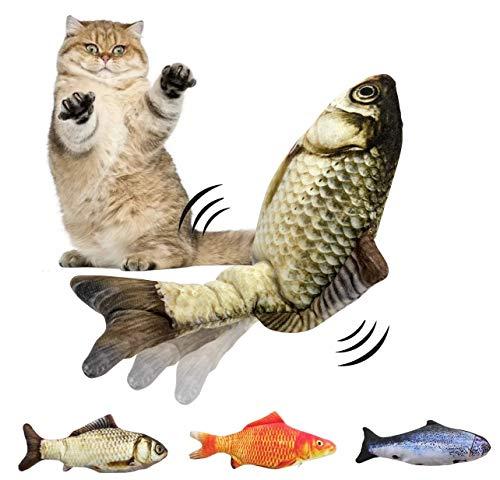 Hinyx - Juguete para gatos con forma de flecho, juguete realista, peces flotantes, juguete de gatito, juguete de peluche interactivo, juguete divertido para el ejercicio del gato