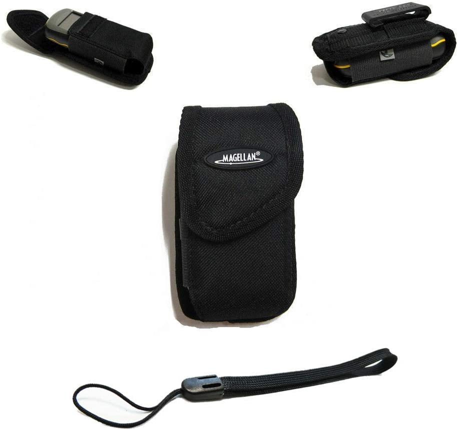 Magellan Clip Carrying Travel Case for Garmin eTrex Venture/eTrex Venture Cx/eTrex Venture HC Handheld GPS + Free Bonus Wrist Strap - MGCC