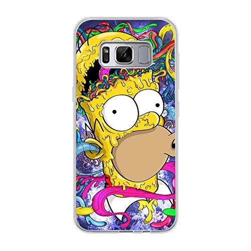 Soft Clear Shockproof Thin Durable Flexible Case for Samsung Galaxy S8-The-Simpson Homer-Father 2