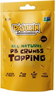PASOKIN | Peanut Butter Crumbs | Gluten-Free, Vegan, All Natural Peanut Butter Topping, Made in USA, Value Pack, 1 LB