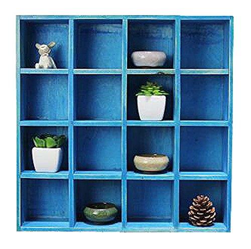 Dragon Troops De Haute qualité Bois Rangement Rack/Cabinet Accueil Décorations Bleu