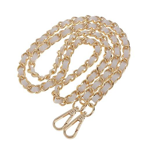 Sharplace Kette Trageriemen Schulterriemen Schultergurt Tragegurt Fuer Damen Handtaschen - Gold + Weiß