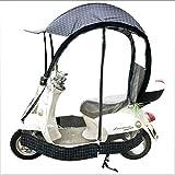 POOPFIY Universal Bicicleta eléctrica Completamente Cerrado Parasol Cubierta de la Lluvia, Paraguas Plegable Impermeable,B