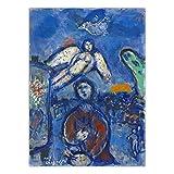 YRZYT Marc Chagall Pared Arte Abstractos CaráCter áNgel Poster Cuadros Obra De Arte ExposicióN Lienzo Cuadros Surrealista Pintura NóRdico Vintage Cuadro Salon HabitacióN Decoracion
