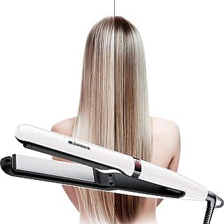 Hair Straighteners 2 in 1 Hair Straightening and Curler Ceramic Flat Iron, 25MM ceramic coated heating plate Adjustable Te...