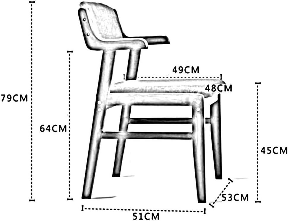 WYYY chaise de Bureau Chaise De Salle À Manger Bois Massif Accoudoir Dossier Confortable Rembourrés Cuisine Fauteuil Ancien Durable Fort (Color : Blue) Gray