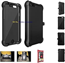 Original Oem AGF Ballistic Tough Jacket Maxx Series Heavy Duty Black Rugged Cover Case W/holster Belt Clip for Apple Iphone 6 / 6s 4.7in. Retail Packaging