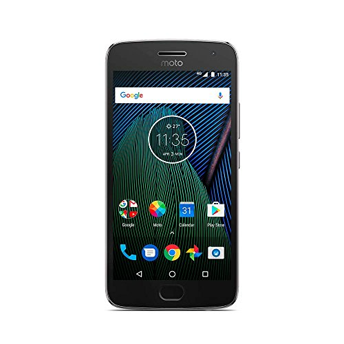 Motorola Moto G5 Plus Smartphone, entsperrt, 4G, Bildschirm: 13,2 cm (5,2 Zoll) – 32 GB – Nano-SIM – Android 7.0 Nougat Grau