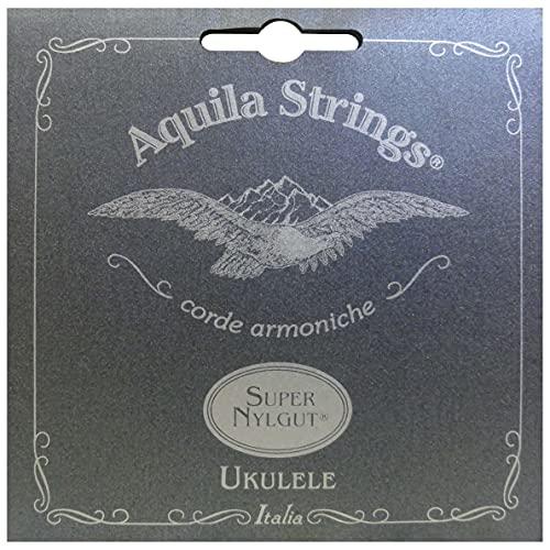 Aquila 100U Sopran-Ukulele-Satz, Standard-Stimmung, Super Nylgut, Key of C, GCEA, Ivory, 100U Soprano High G